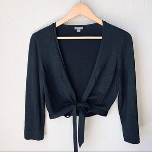 Ann Taylor black wrap sweater - M